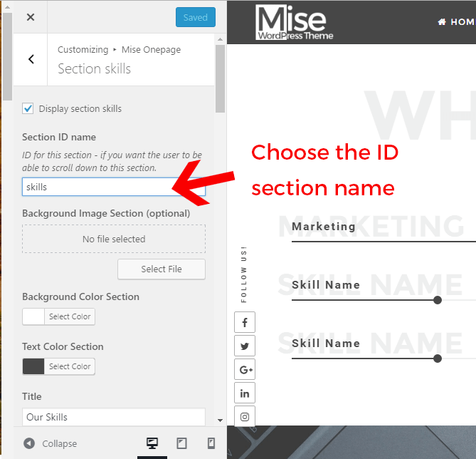 Onepage: how to scroll to section using the menu - CrestaProject