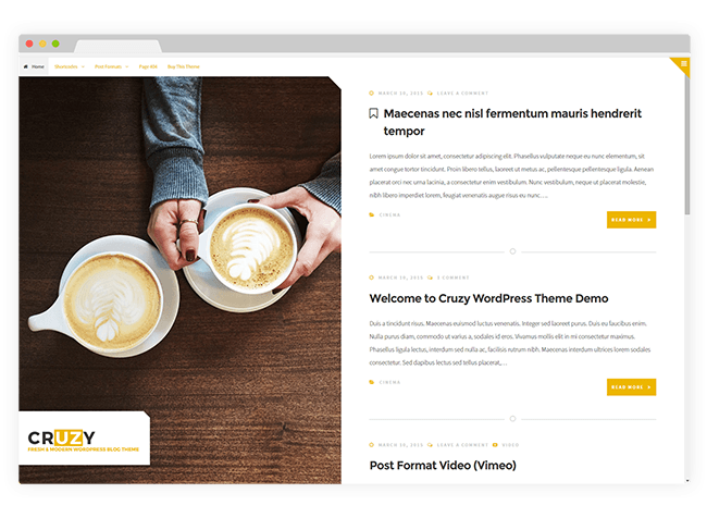 Cruzy WordPress Theme
