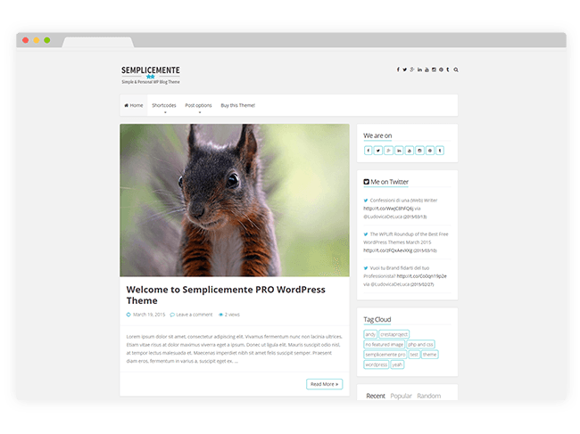 Semplicemente WordPress Theme