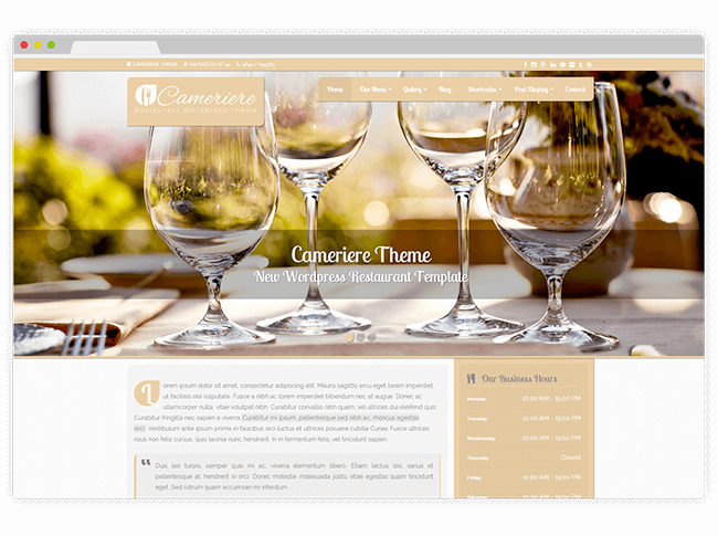 Cameriere WordPress Theme