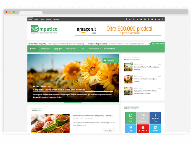 Simpatico WordPress Theme