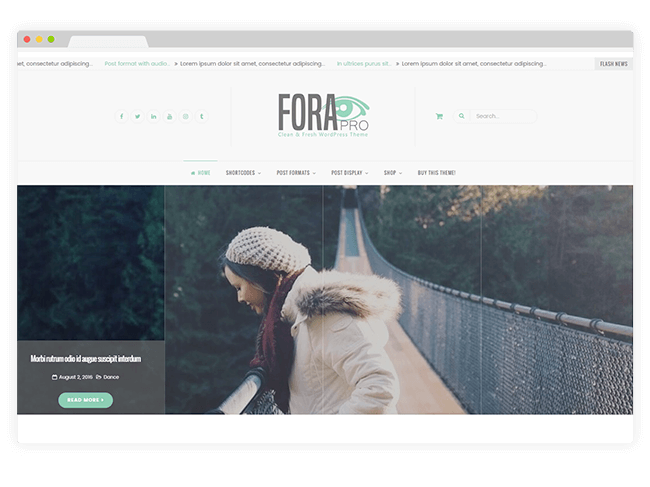 Fora WordPress Theme